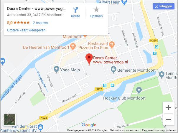 PowerYoga.nl op Google Maps